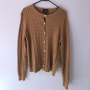 Tall Eddie Bauer Tan Cardigan